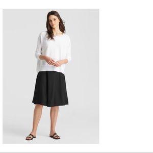 Eileen Fisher Black Silk Mini Skirt M